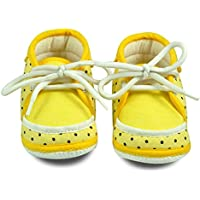 Cute & Attractive Yellow Soft Fabric Infant Booties Age Group 6-18 Months Less Up Shoes For Kids Infants Boys and Girls By Instabuyz
