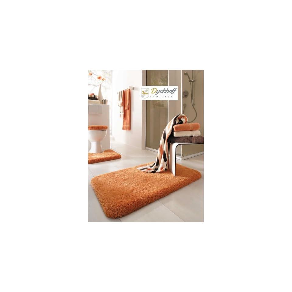 Badteppich Badematte Badvorleger Terracotta Orange 70120 Cm