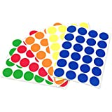 "3/4"" Assorted Primary Colors Kit (5 Colors) of Color-Coding Sticker Dots 