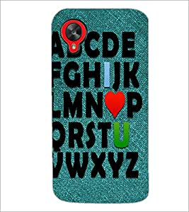 PrintDhaba Quote D-3459 Back Case Cover for LG GOOGLE NEXUS 5 (Multi-Coloured)