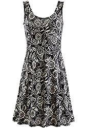 Women's Wildflowers Eclipse Sleeveless Black Dress