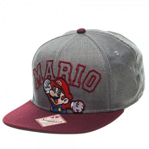 Nintendo Mario Gray/Burgundy Snapback