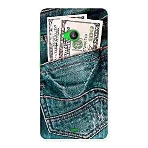 Radiant Money Jeans Back Case Cover for Lumia 535