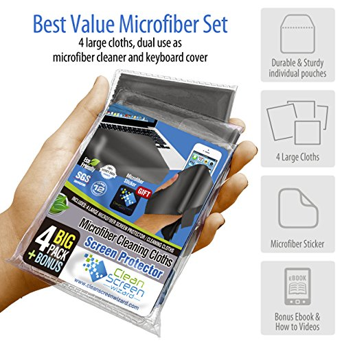 microfiber screen protector cleaning cloth laptop ipad. Black Bedroom Furniture Sets. Home Design Ideas