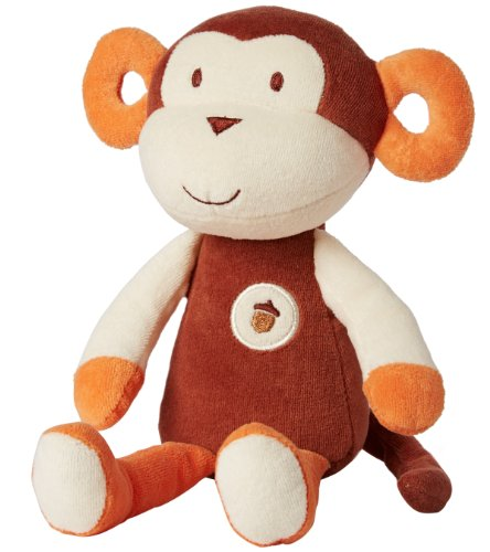 My Natural Plush Toy, Brown Monkey front-130484