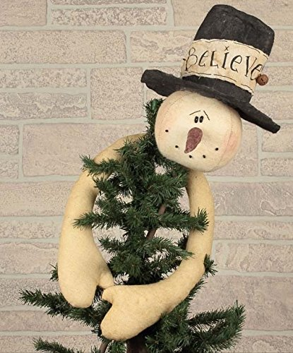 Hugging Snowman Tree Topper