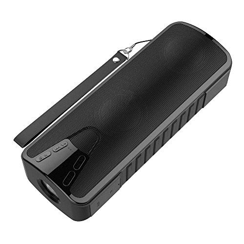 buy Ultra-portable Power Bank Weatherproof Wireless Bluetooth V4.1 Sports Speakers w/ Built-in Flashlight for sale
