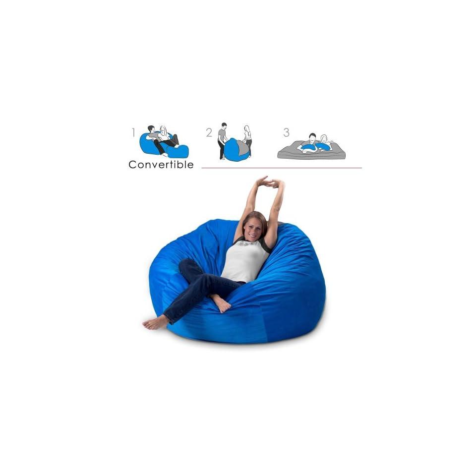 Astonishing Corda Roys Queen Size Convertible Foam Bean Bag Bed In Andrewgaddart Wooden Chair Designs For Living Room Andrewgaddartcom
