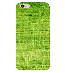 PrintVisa Green Knitted Cloth Design 3D Hard Polycarbonate Designer Back Case Cover for Apple iPhone 6S Plus
