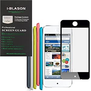i-Blason HD Clear Bubble Free Screen Protector for New Apple iPod Touch iTouch 5G 5th Generation 32G 64G 4G Reusable Multi Color (Black)