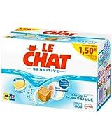 Le Chat - Sensitive - Lessive en Tablettes - Boîte 48 Tablettes / 24 Lavages