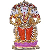 GATTS Hindu God Idol Ganesha Resin Idol For Multi Purpose Use (Small) Showpiece - 7 Cm