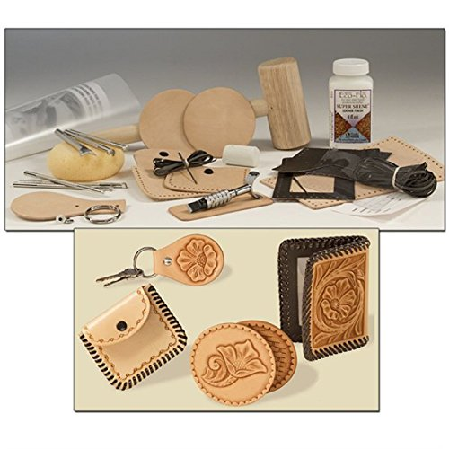 Tandy Leather Factory Basic Leather Craft Set 55501-00 (Leather Tooling Kit compare prices)