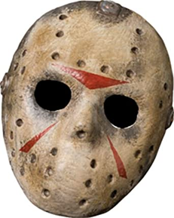 Friday The 13th Jason Voorhees Deluxe Eva Hockey Mask, Gray, One Size