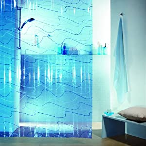 Spirella pool rideau de douche plastique peva transparent - Rideau plastique transparent ...