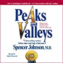 Peaks and Valleys: Making Good and Bad Times Work for You - at Work and in Life (       UNABRIDGED) by Spencer Johnson Narrated by John Dossett