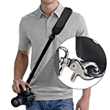 RapidFire™ (2 Mounting Plate Kit) Quick Release Sling Shoulder Neck Strap by Altura Photo for DSLR Camera w Bonus Metal Mounting Plate (For Canon Nikon Sony Olympus Pentax and More)