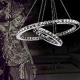 ALFRED® Cristallo di lusso moderno ha condotto il pendente con uniche due anelli?Modern Home soffitto lampade, luce del pendente Lampadari Illuminazione