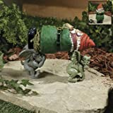 Lawn & Patio - Garden Gnome Kidnapped By Gargoyles G'nappers Lawn Sculpture Outdoor Yard Statue Decor