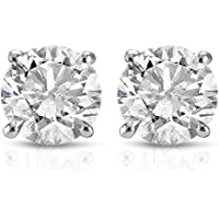 Pompeii3 1 1/2ct Diamond Studs 14K White Gold