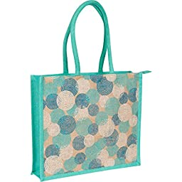 Eco-friendly Mystic Aqua Women\'s Beach Tote - Shopping Bag