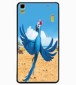 ColourCraft Lovely Parrot Design Back Case Cover for LENOVO K3 NOTE