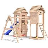 MIRADORI Spielturm Spielhaus Rutsche Schaukel Kletterturm 1,50m Podest (einfacher Schaukelanbau)