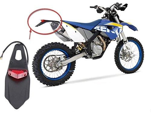 [笑顔一番] バイク LED エンデューロ テール ランプ レッド レンズ ナンバー灯 オフロード 車 汎用 カスタム パーツ KTM XR250 XR400 XR650 WR250F WR450F CRF250X CRF450X CRF [A154-11]