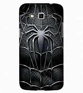 ColourCraft Black Spider Design Back Case Cover for SAMSUNG GALAXY GRAND 2 G7102 / G7106