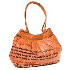 Recycled Pleated Shoulder Bag - Cambodia