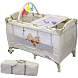 TecTake Baby Travel Cot BEIGE