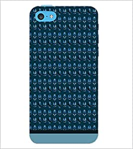 PrintDhaba Skull pattern D-1950 Back Case Cover for APPLE IPHONE 5C (Multi-Coloured)