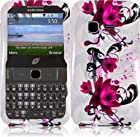 LF Purple Lily Designer Hard Case Cover, Lf Stylus Pen and Wiper For MetroPCS Samsung Freeform M T189N & Tracfone StraightTalk Net 10 Samsung S390G SHG-S390G