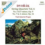 Dvorak: String Quartets No. 5, Op. 9 And No. 7, Op. 16