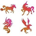 Glitzer Tattoo Schablonen Set Pferdet...