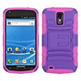 MYBAT ASAMT989HPCSAAS006NP Advanced Armor Rugged Durable Hybrid Case with Kickstand for Samsung Galaxy S II/SGH-T989 - 1 Pack - Retail Packaging - Purple/Electric Pink