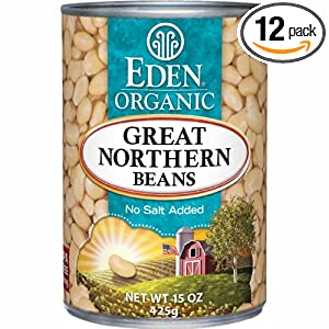 review best price Eden Organic Great Northern Beans, No Salt Added, 15-Ounce Cans (Pack of 12)