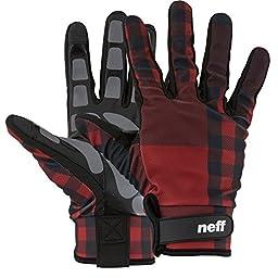 neff Men\'s Chameleon Pipe Glove, Red Plaid, X-Large