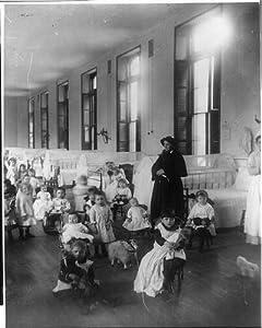 Photo: New York Foundling Asylum - Sister Irene,her flock,1888,Jacob Riis,Photographer