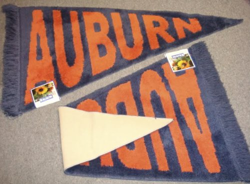 Orange & Blue Auburn University Tigers Plush Pennant Area Rug / Floor Mat at Amazon.com