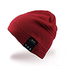 buy Mydeal Men & Women Bluetooth Audio Beanie Hat Cap With Stereo Speaker Headphones, Microphone, Hands Free And Rechargeable Battery - For Mobile Phones, Iphone, Ipad, Tablets, Android Smartphones - Red