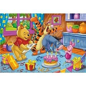 Clementoni - Puzzle pour enfant - Winnie l'Ourson: Happy birthday - 104 pièces