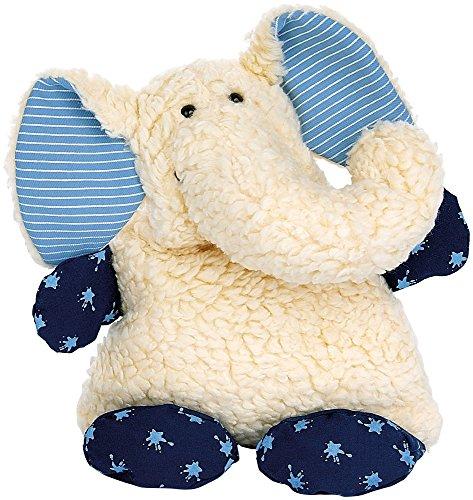 sigikid 30169 - Wärmekissen - Kirschkernkissen - Elefant, Größe: 24 cm