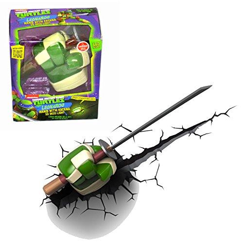 Teenage Mutant Ninja Turtles Series 3D Night Light - LEONARDO HAND with KATANA