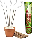Mosquito Repellent Sticks - Best Remedy to Control Insect Outbreak - Natural Outdoor Incense - Get Relief Now & Go Enjoy the Outdoors - 60 Count Per Tube - Place Around Yard in Patio, While Fishing & Camping - Better Than Cones, Patch, Mist, Spray, Dunks - 100% Money Back Guarantee
