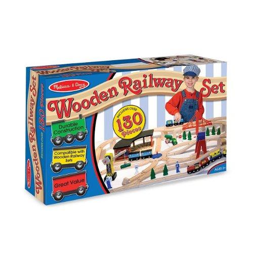 Melissa & Doug Deluxe Wooden Railway Set front-463382