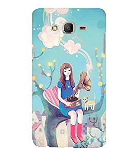 Printvisa Premium Back Cover Fairy On A Tree With A Gramophone Design For Samsung Galaxy On5::Samsung Galaxy On5 G550FY