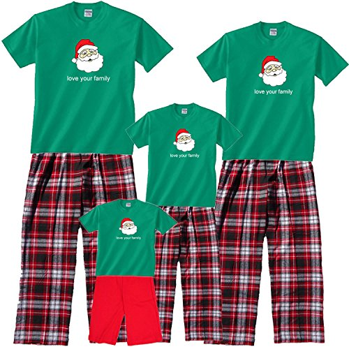 Jolly Santa Matching Family Christmas Outfits; Choose Adult or Kids