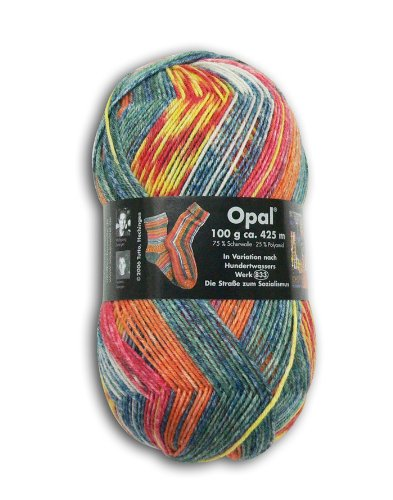 OPAL 靴下用毛糸 1430_Hundertwasser (フンデルトヴァッサー) 100g/玉, 425m