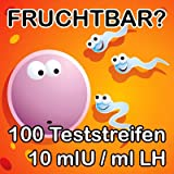 "100 St�ck LH Ovulationstest Eisprungtest 10 mlU/ml hohe Sicherheitvon ""ONE STEP"""
